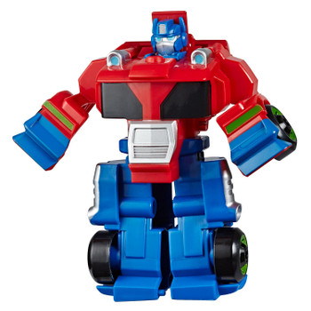 In robot mode, Optimus Prime stands around 5 inches (12.5 cm) tall.