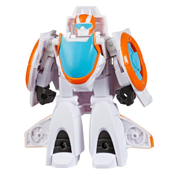 In robot mode, Blades the Flight-Bot stands around 4.5 inches (11.5 cm) tall.