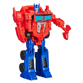 Transformers Cyberverse Action Attackers 1-Step Changer OPTIMUS PRIME Figure in robot mode.