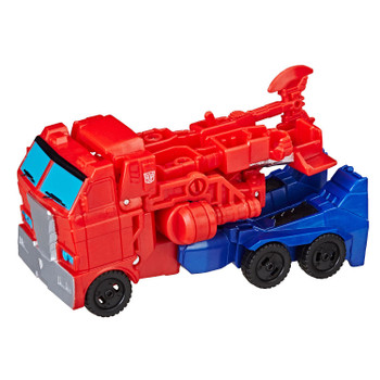 Transformers Cyberverse Action Attackers 1-Step Changer OPTIMUS PRIME Fin vehicle mode.