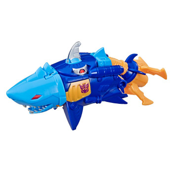 Convert Sky-Byte toy from robot to shark mode in 1 easy step.
