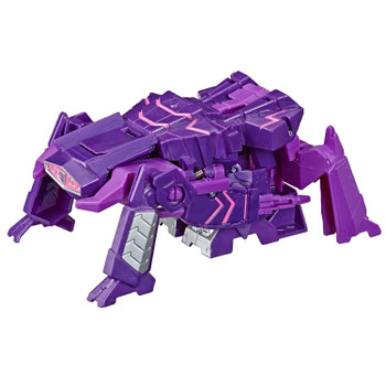 Convert Shockwave toy from robot to crab tank mode in 1 easy step.