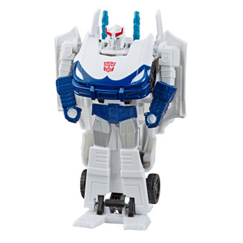 Transformers Cyberverse 1-Step changer Prowl figure stands around 4.25 inches (11 cm) tall.