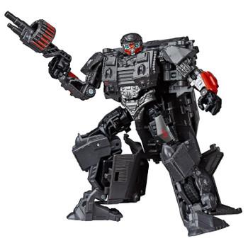 Transformers Studio Series 50 Deluxe Class WWII Autobot Hot Rod figure in robot mode.