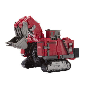 Transformers Studio Series #55 Leader Class Revenge of the Fallen Constructicon SCAVENGER in Excavator vehicle mode.