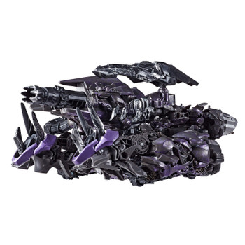 Transformers Studio Series #56 Leader Class Dark of the Moon SHOCKWAVE in Cybertronian Tank vehicle mode.