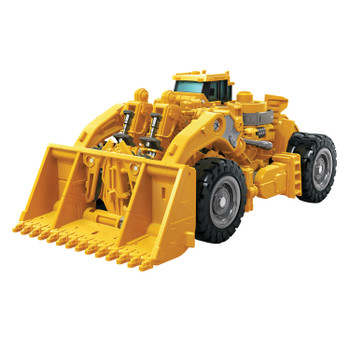 Transformers Studio Series #60 Voyager Class Revenge of the Fallen SCRAPPER in front loader vehicle mode.