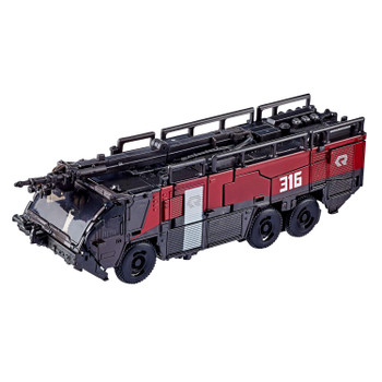 Transformers Studio Series #61 Voyager Class Dark of the Moon SENTINEL PRIME in fire engine vehicle mode.