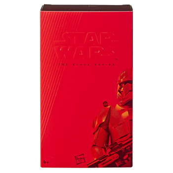 Star Wars The Black Series The Rise of Skywalker Exclusive 6-Inch SITH TROOPER Action Figure comes in presentation packaging.