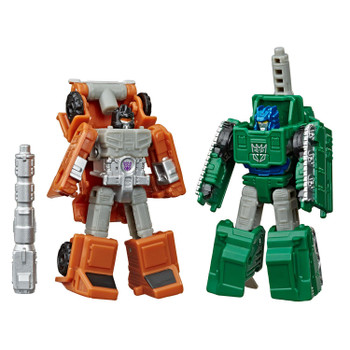 The Micromaster Military Patrol figures Bombshock and Decepticon Growl convert into mini toy car modes in 5 and 6 steps.