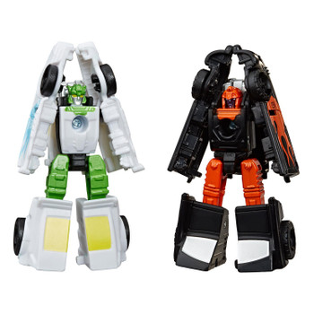 These figures are a great update to the G1 Autobot Hot Rod Patrol Micromaster toys released way back in 1990.