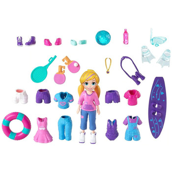 Polly Pocket AWESOMELY ACTIVE PACK with 9cm POLLY Doll