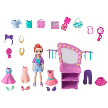 Polly Pocket FIERCELY FAB STUDIO PACK with 9cm LILA Doll