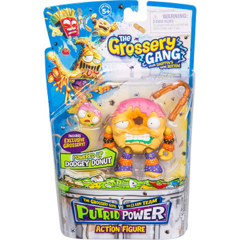 The Grossery Gang Putrid Power DODGEY DONUT Action Figure in packaging.