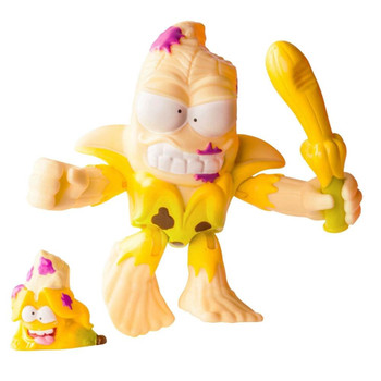 3-inch scale Squished Banana action figure comes with weapon accessory, plus collectable Grossery Gang figure.