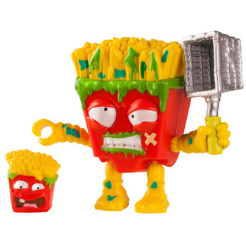 3-inch scale Fungus Fries action figure comes with weapon accessory, plus collectable Grossery Gang figure.
