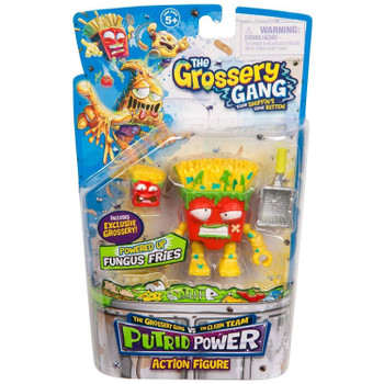 The Grossery Gang Putrid Power FUNGUS FRIES Action Figure in packaging.