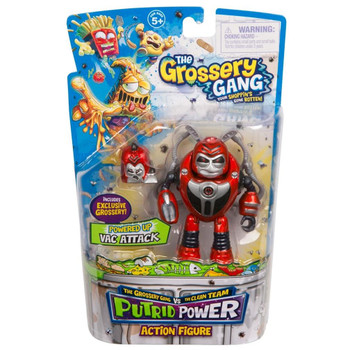 The Grossery Gang Putrid Power VAC ATTACK Action Figure in packaging.