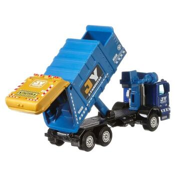 The Matchbox Garbage King HD features tilting dumpster and opening rear door.