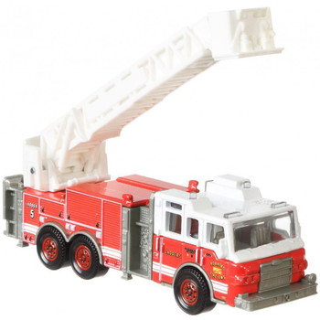 The Pierce Velocity Aerial Platform Fire Truck is a larger-sized rescue vehicle with moving parts.