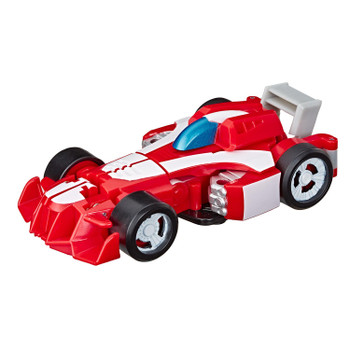 AS SEEN IN THE TRANSFORMERS RESCUE BOTS ACADEMY TV SERIES: Kids can imagine racing to the rescue with this Heatwave the Fire-Bot toy, inspired by the Transformers Rescue Bots Academy animated TV show.