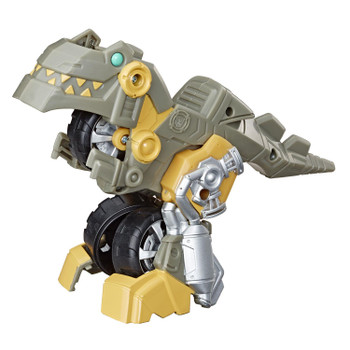 2-IN-1 RESCUE BOTS ACADEMY TOY: Little heroes can enjoy twice the fun with 2 modes of play, converting this Grimlock action figure from motorcycle to a Dinobot and back again.