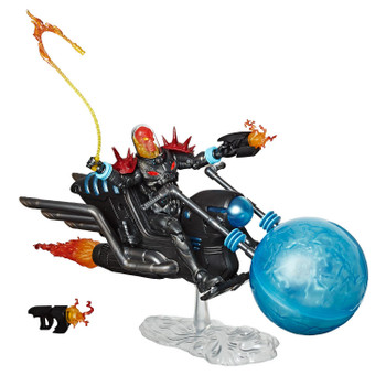 Cosmic Ghost Rider figure includes motorcycle and accessories.