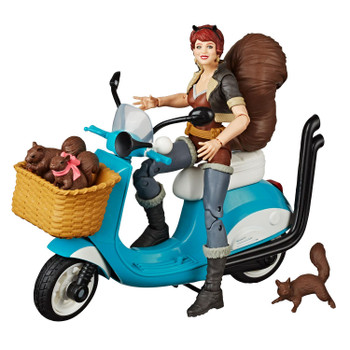 The Unbeatable Squirrel Girl figure includes scooter and accessories.