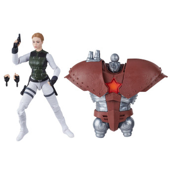 6-inch Yelena Belova figure comes with 2 accessories and Build-A-Figure part.