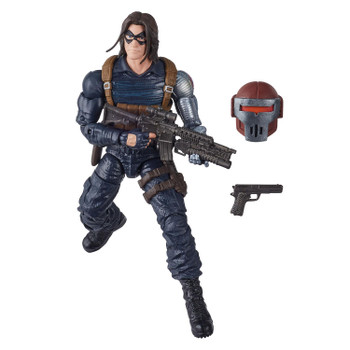 6-inch Winter Soldier figure comes with 2 accessories and Build-A-Figure part.