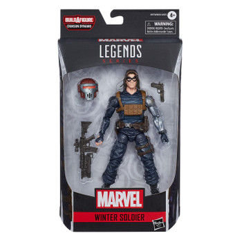 Marvel Legends Black Widow Series 6-Inch WINTER SOLDIER Action Figure in packaging from front.