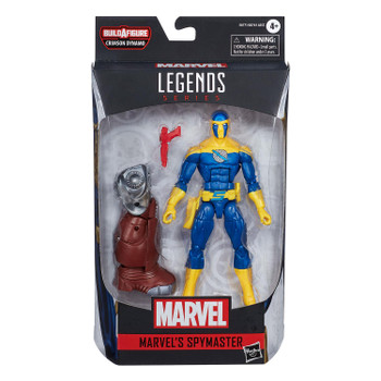 Marvel Legends Black Widow Series 6-Inch MARVEL'S SPYMASTER Action Figure in packaging from front.