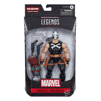 Marvel Legends Black Widow Series 6-Inch MARVEL'S CROSSBONES Action Figure in packaging from front.