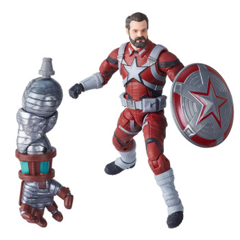 6-inch Red Guardian action figure comes with 1 accessory and Build-A-Figure part.