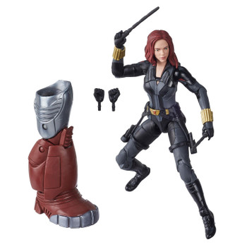6-inch Black Widow action figure comes with 6 accessories and Build-A-Figure part.
