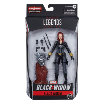 Marvel Legends Black Widow Series 6-Inch BLACK WIDOW Action Figure in packaging from front.