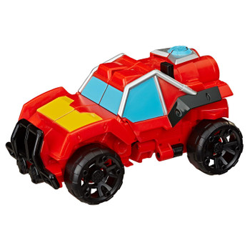 AS SEEN IN THE TRANSFORMERS RESCUE BOTS ACADEMY TV SERIES: Kids can imagine racing to the rescue with this Hot Shot toy, inspired by the Transformers Rescue Bots Academy show.