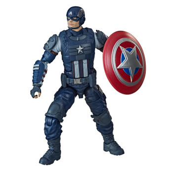 Fans, collectors, and kids alike can enjoy this 6-inch Captain America figure, inspired by the character from the Marvel's Avengers video game.