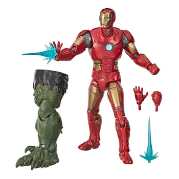 Iron Man figure comes with 4 accessories and Build-A-Figure part.