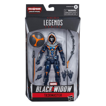 Marvel Legends Black Widow Series 6-Inch TASKMASTER Action Figure in packaging.