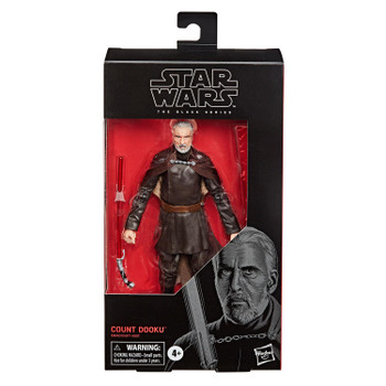 Star Wars The Black Series 6-Inch COUNT DOOKU Action Figure in packaging.