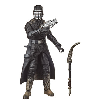 The 6-inch scale Black Series Knight of Ren action figure is detailed to look like the character from Star Wars: The Rise of Skywalker, featuring premium detail and multiple points of articulation.