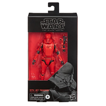 Star Wars The Black Series 6-Inch #106 SITH JET TROOPER Action Figure in packaging.
