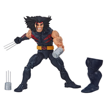Weapon X figure comes with accessories and Build-A-Figure part.