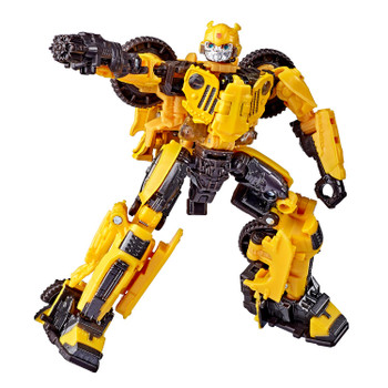 4.5-INCH SCALE BUMBLEBEE: Figure is highly articulated, featuring vivid, movie-inspired deco, and includes a detailed weapon accessory.