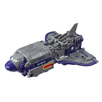 Astrotrain figure converts into space shuttle mode in 19 steps...
