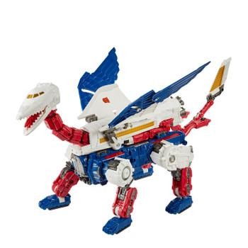 Transformers War for Cybertron: Earthrise Commander Class SKY LYNX Action Figure in combined bird-lynx beast mode.