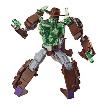SIGNATURE WEAPON AND ENERGON ARMOR: Each Trooper Class figure includes a signature weapon and Energon Armor that kids can attach to chest.