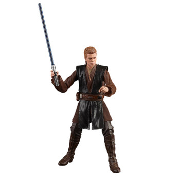 The 6-inch scale Black Series Anakin Skywalker (Padawan) action figure is detailed to look like the character from Star Wars: Attack of the Clones, featuring premium detail and multiple points of articulation.