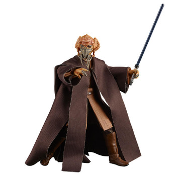 The 6-inch scale Black Series Plo Koon action figure is detailed to look like the character from Star Wars: The Clone Wars, featuring premium detail and multiple points of articulation.